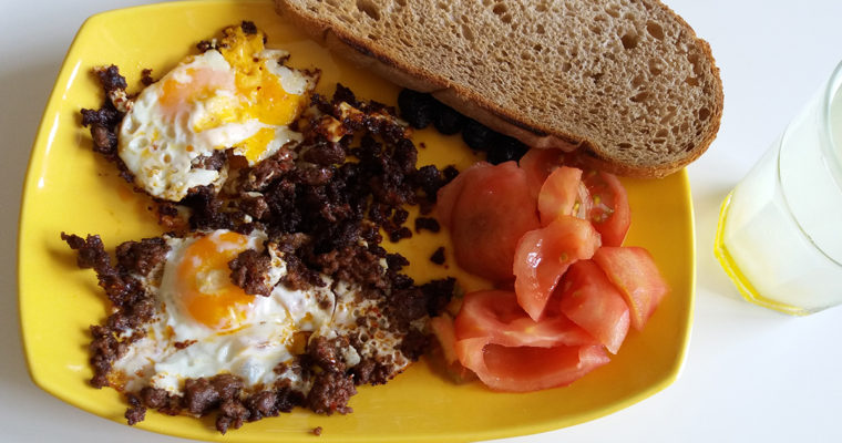 Eggs with Ground Beef for Breakfast